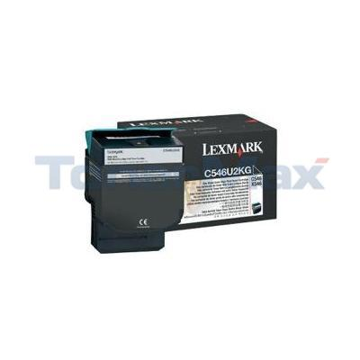 LEXMARK C546 X546 TONER CARTRIDGE BLACK 8K